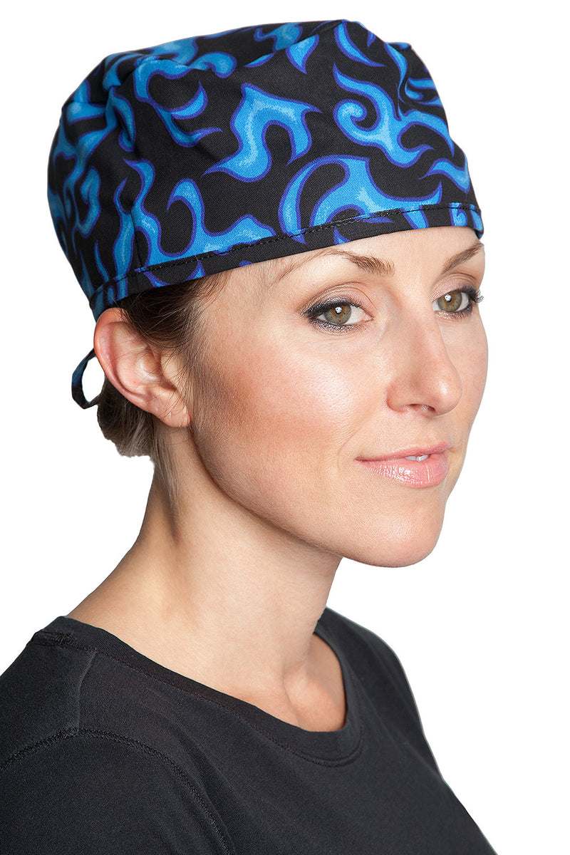 Fiumara Apparel Surgical Cap Flames