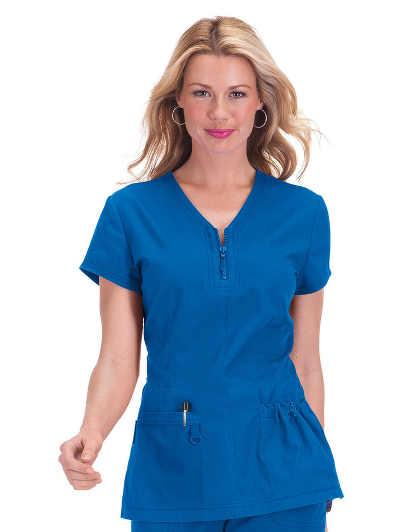Koi Mackenzie Stretch Scrub Top Royal