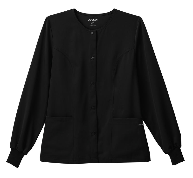 "Jockey Classic Ladies 28"" Round Neckline Jacket Black"