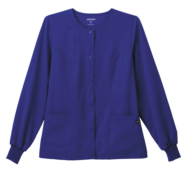 "Jockey Classic Ladies 28"" Round Neckline Jacket Galaxy Blue"