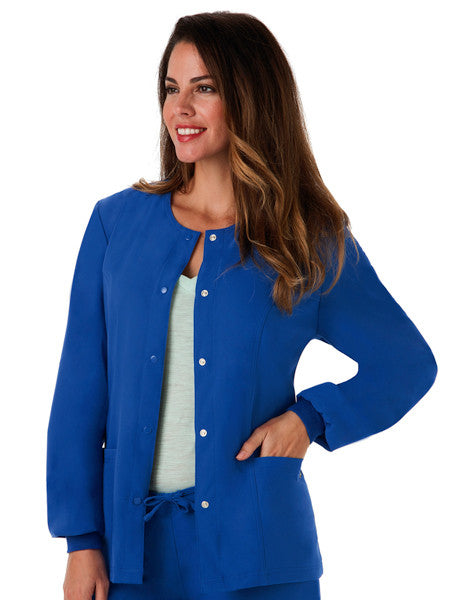 "Jockey Classic Ladies 28"" Round Neckline Jacket Royal Blue Main"