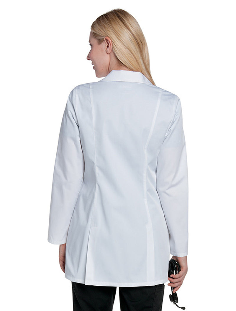 Landau Women's Lab Coat w/ Tablet Pocket White Back