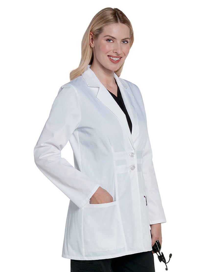 Landau Women's Lab Coat w/ Tablet Pocket White