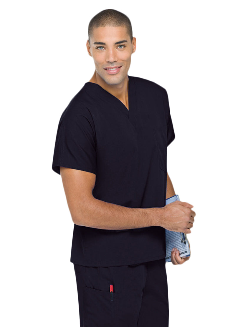 Landau Unisex Scrub Top Black