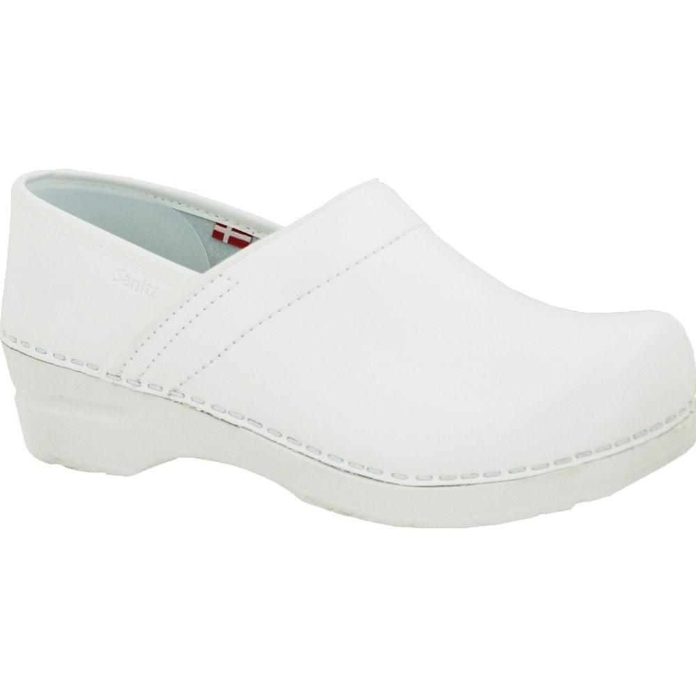 Sanita Women's Professional PU Medical Clog White Main