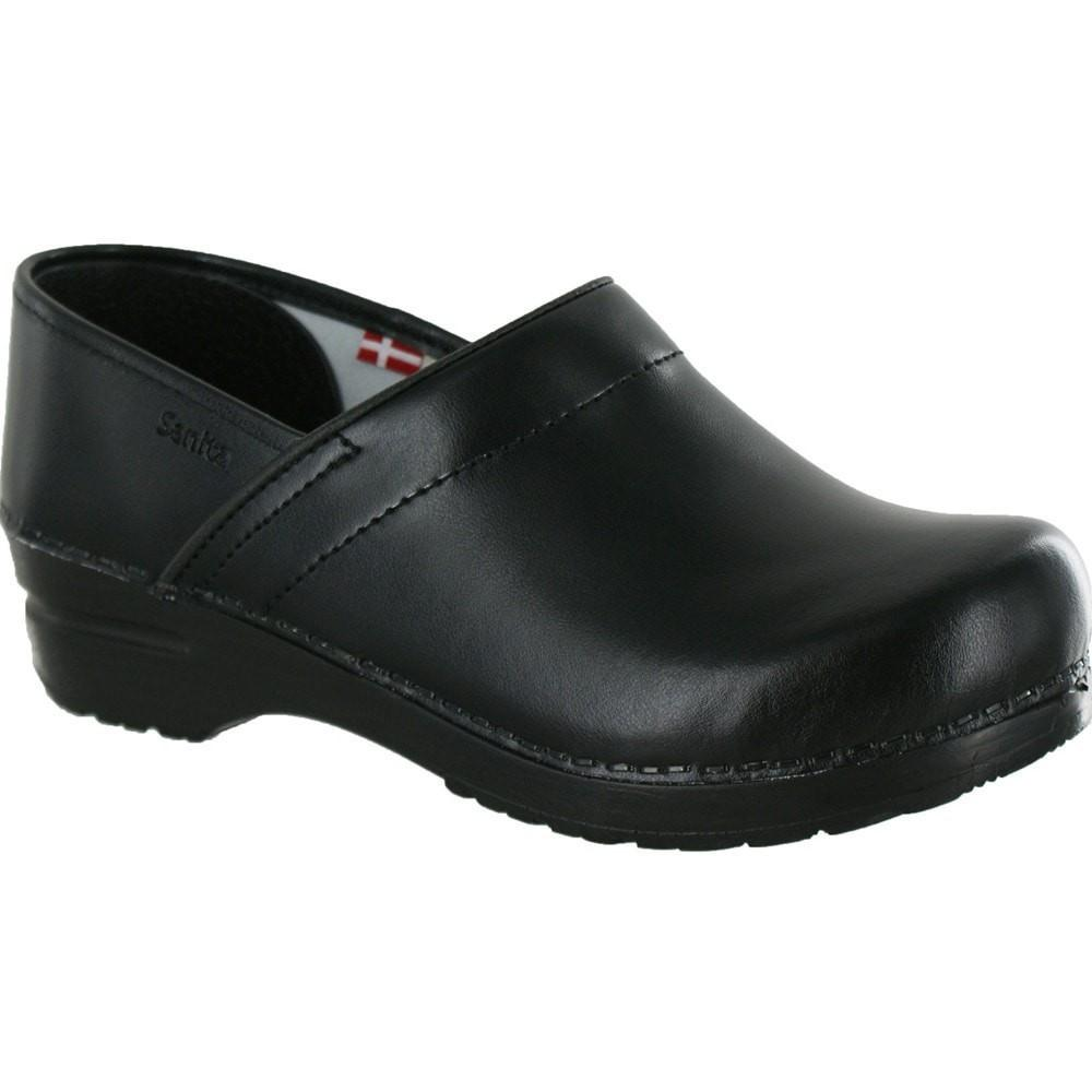 Sanita Women's Professional PU Medical Clog Black Main