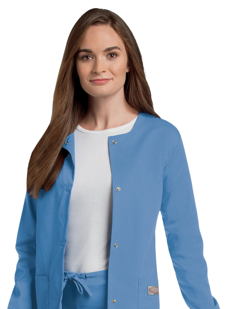Landau Women's Warm-Up Jacket - Ceil Blue