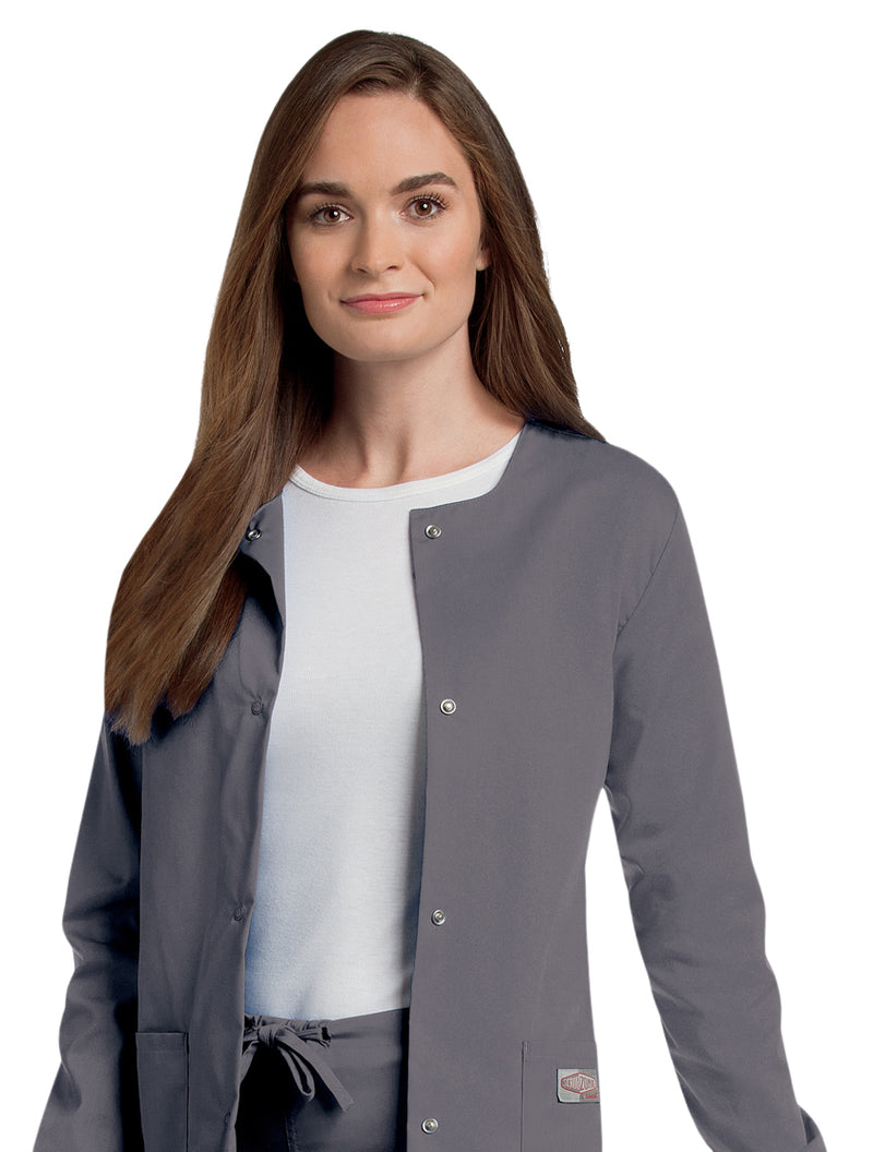 Landau Women's Warm-Up Jacket - Steel Grey