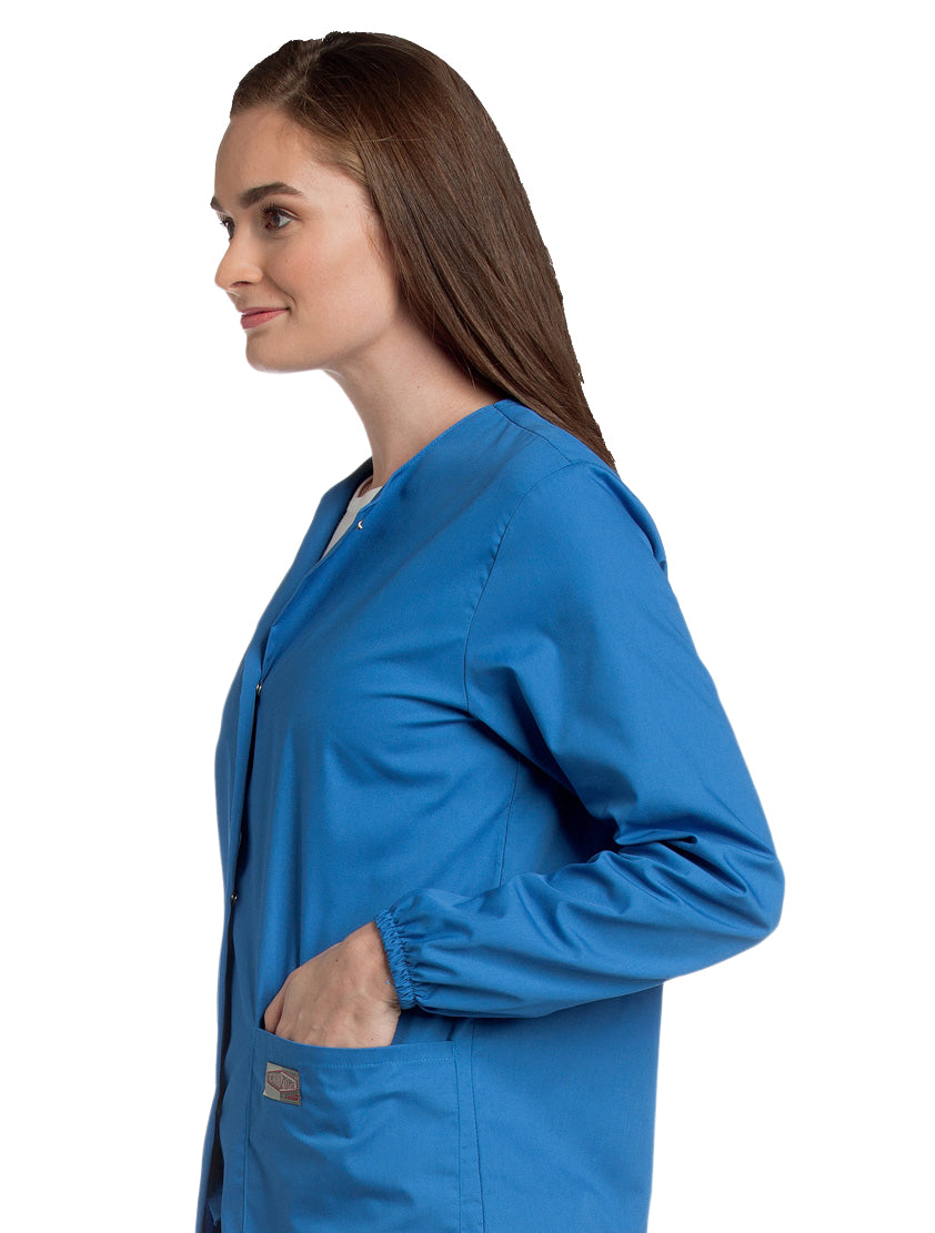 Landau Women's Warm-Up Jacket Side View - Royal Blue