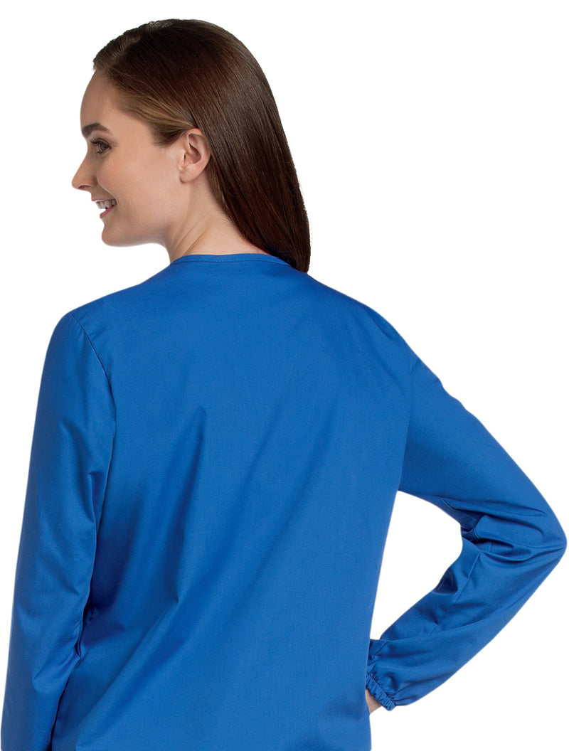 Landau Women's Warm-Up Jacket Back View - Royal Blue