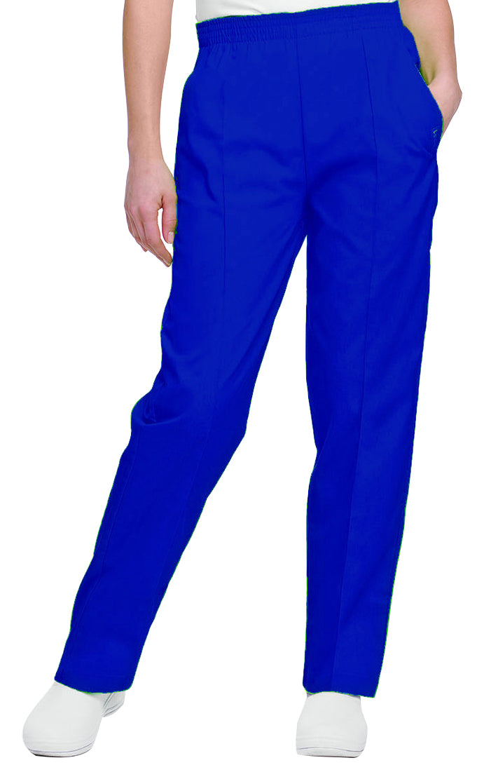 Landau Women's Classic Tapered Leg Pant Royal Blue