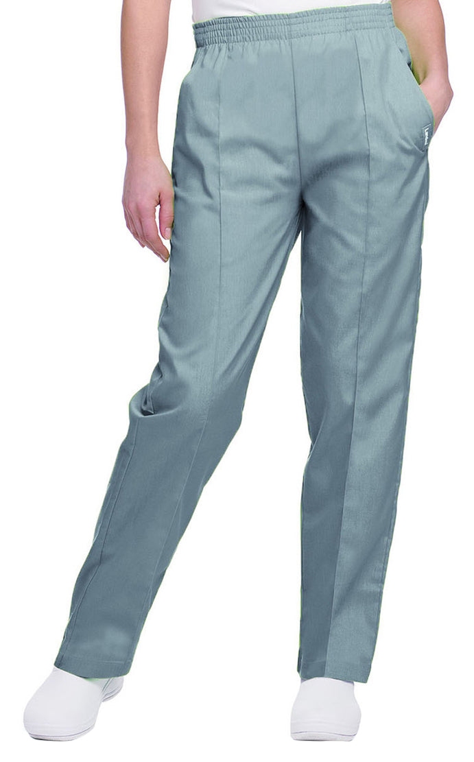 Landau Women's Classic Tapered Leg Pant Steel Gray