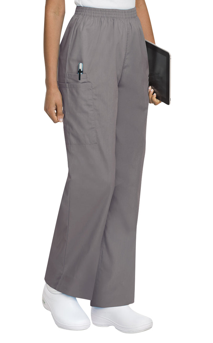 Landau Women's Cargo Pant Scrub Zone Steel Grey