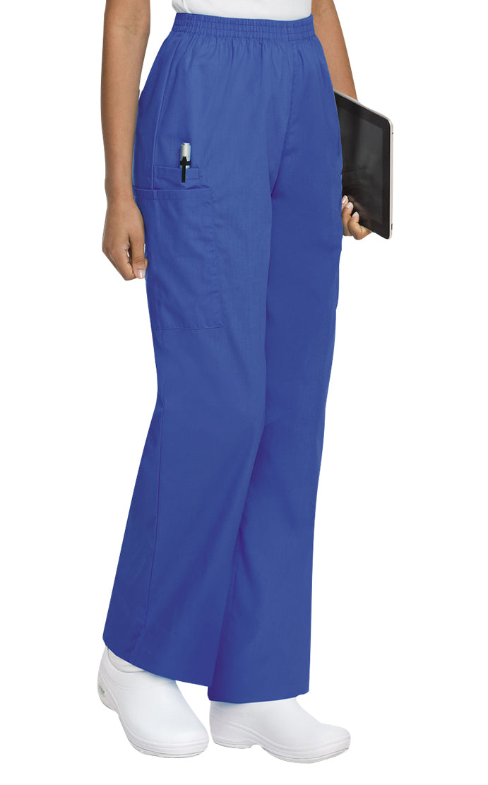 Landau Women's Cargo Pant Scrub Zone Royal Blue