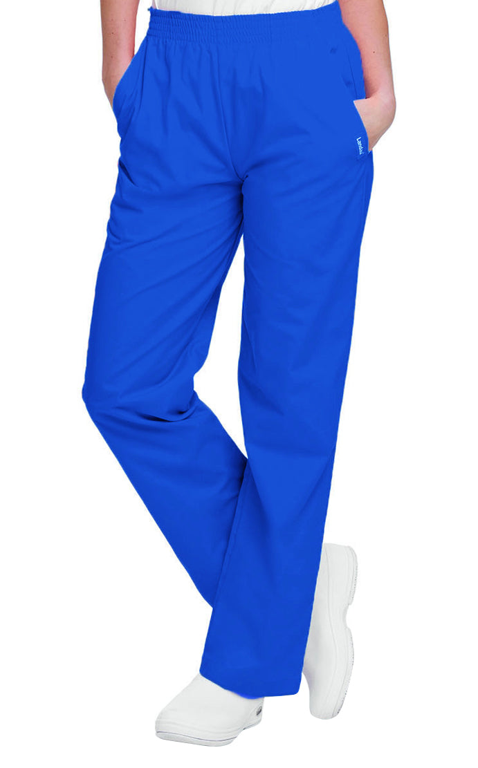 Landau Women's Classic Relaxed Pant Royal Blue
