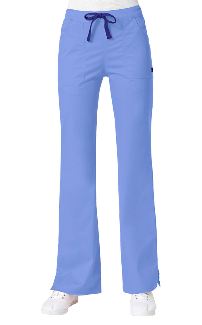 "Maevn Women's ""Blossom"" Multi-Pocket Flare Pant Ceil Blue"