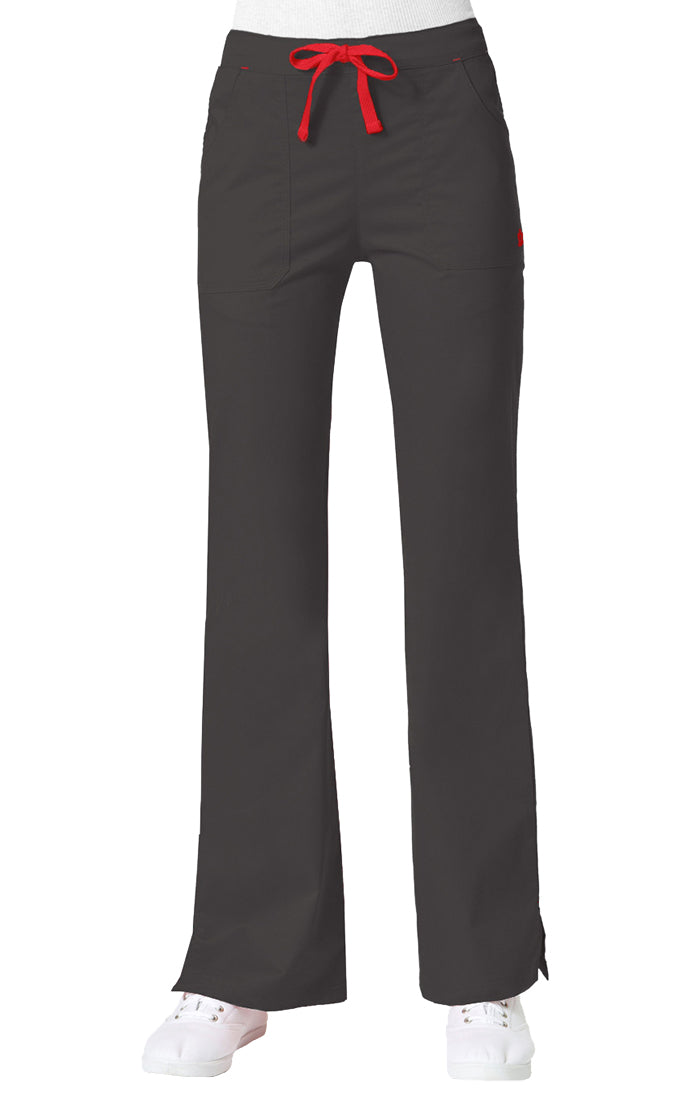 "Maevn Women's ""Blossom"" Multi-Pocket Flare Pant Charcoal"