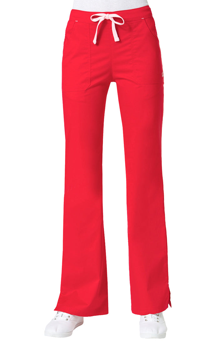 "Maevn Women's ""Blossom"" Multi-Pocket Flare Pant Crimson"
