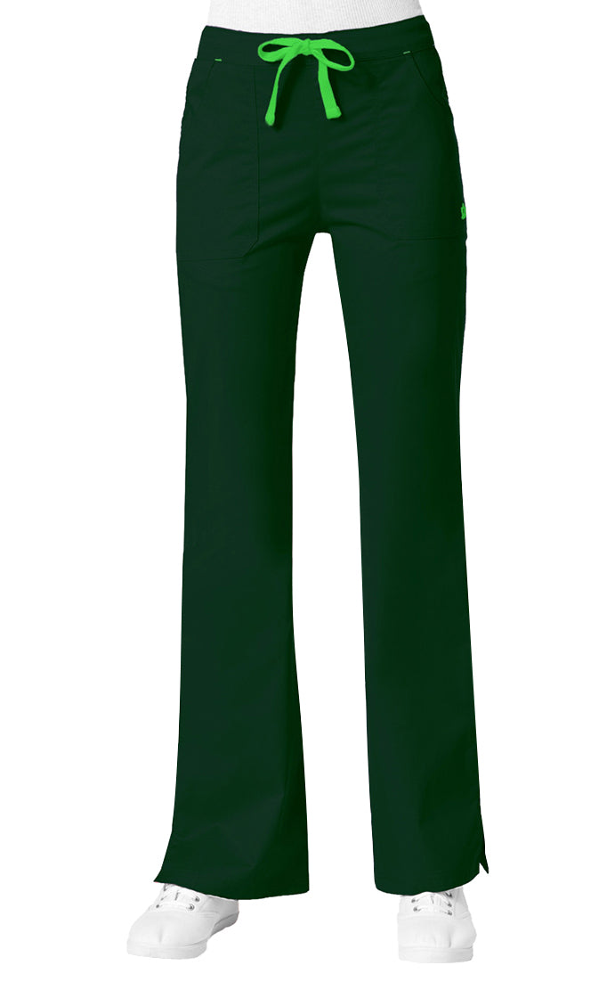 "Maevn Women's ""Blossom"" Multi-Pocket Flare Pant Hunter Green"