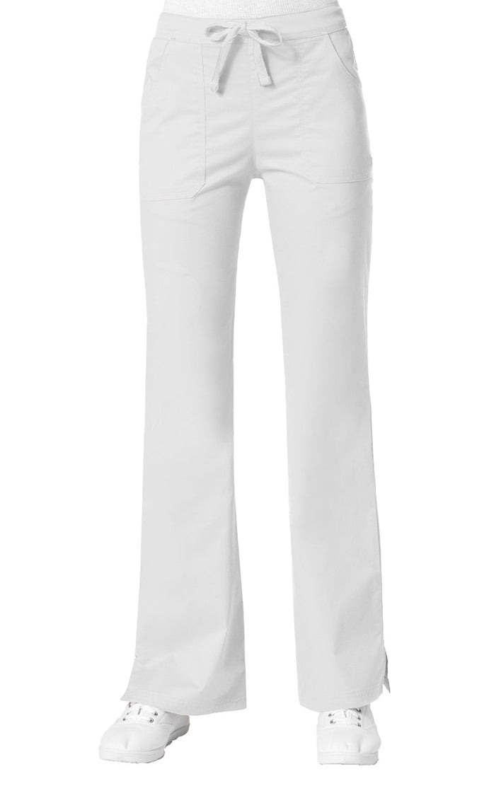 "Maevn Women's ""Blossom"" Multi-Pocket Flare Pant White"