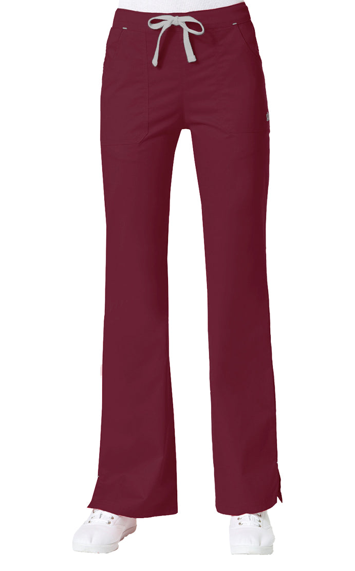 "Maevn Women's ""Blossom"" Multi-Pocket Flare Pant Wine"