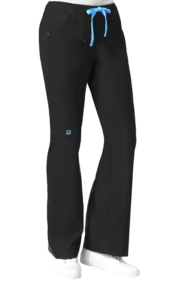 "Maevn Women's ""Blossom"" Multi-Pocket Utility Cargo Pant Black"