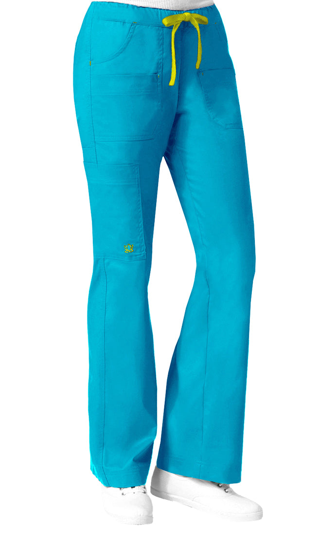 "Maevn Women's ""Blossom"" Multi-Pocket Utility Cargo Pant Pacific Blue"