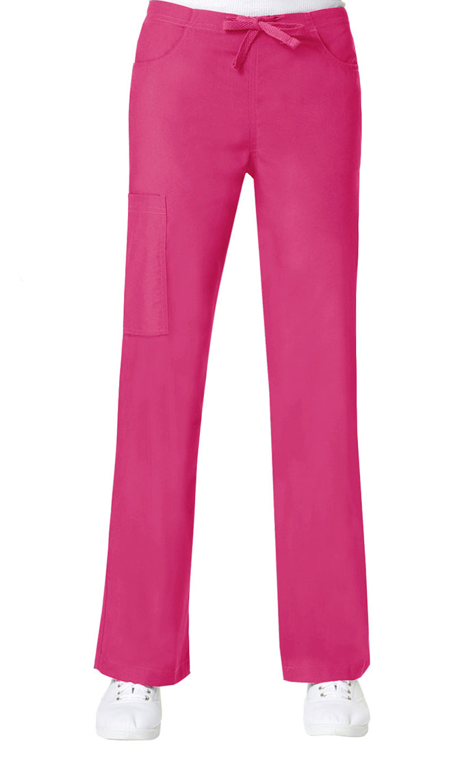 Maevn Women's Core Straight Leg Cargo Back Elastic Drawstring Pant Passion Pink