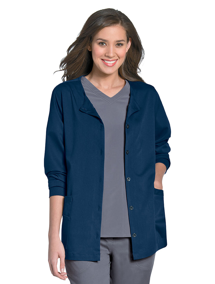 Urbane Women's Button Front Jacket Navy