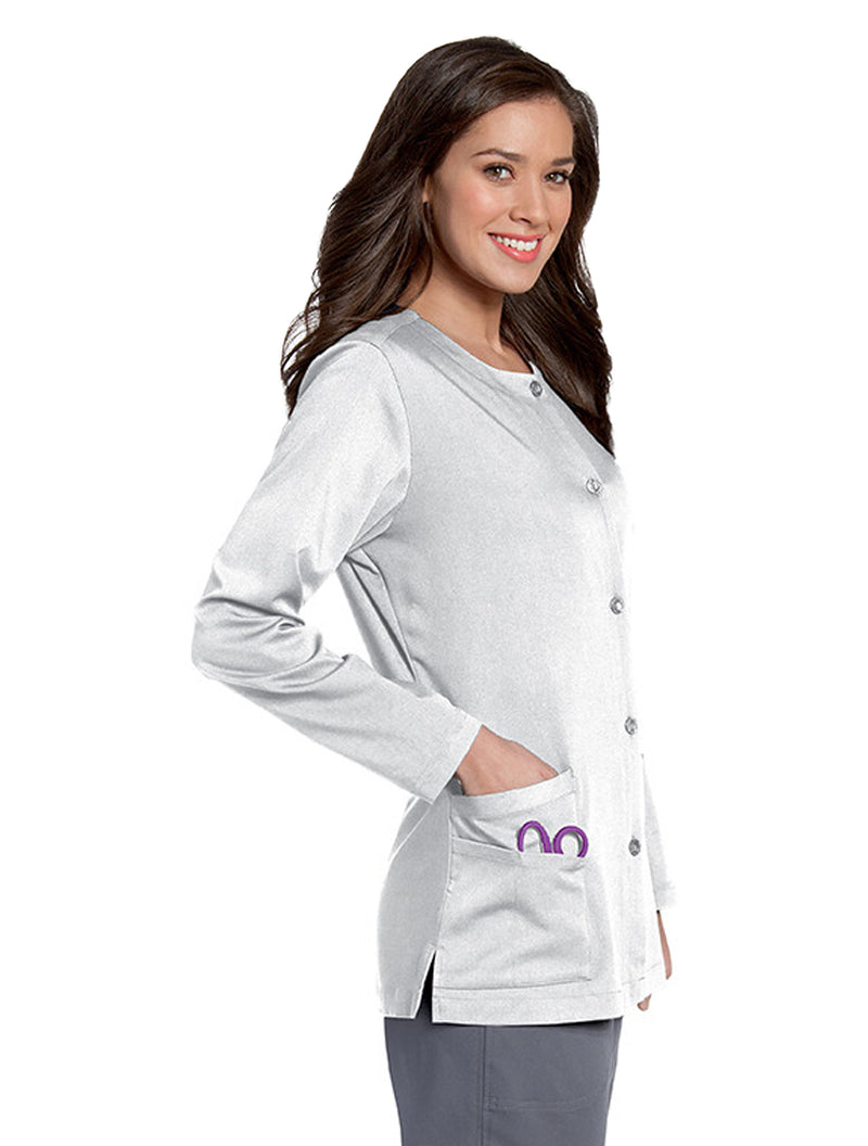 Urbane Women's Button Front Jacket Side