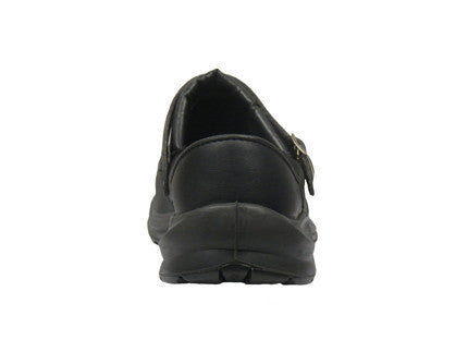 "Giasco ""Free"" Semi Open-Back Leather Medical Shoe Black Back"