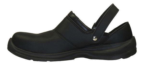 "Giasco ""Free"" Semi Open-Back Leather Medical Shoe Black Side Up"