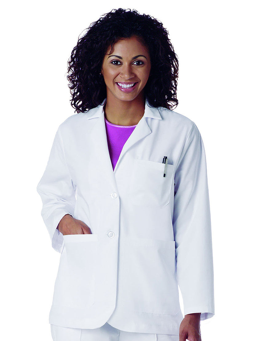 "Landau Women's 30"" Consultation Lab Coat White"