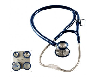 MDF ProCardial C3 Stainless Steel Dual Head Stethoscope with Convertible Chest-Pieces Navy