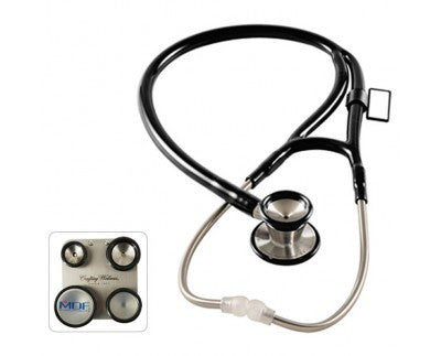 MDF ProCardial C3 Stainless Steel Dual Head Stethoscope with Convertible Chest-Pieces Black