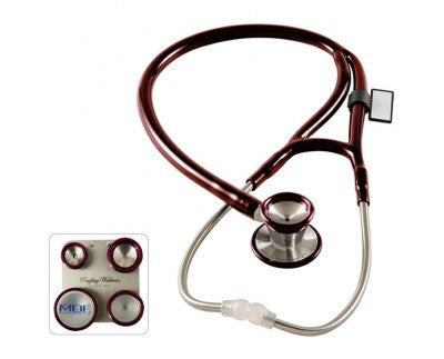 MDF ProCardial C3 Stainless Steel Dual Head Stethoscope with Convertible Chest-Pieces Maroon