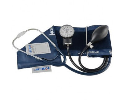 MDF Professional Aneroid Sphygmomanometer With Attached Stethoscope - Blood Pressure Monitor