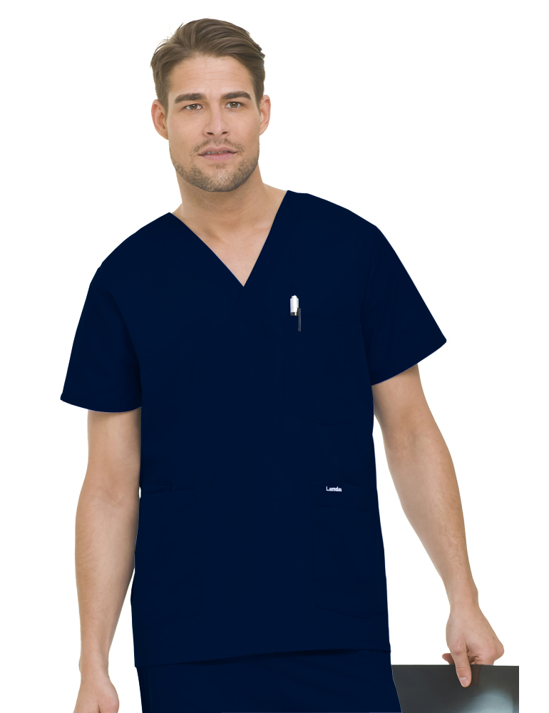 Landau Men's 5-Pocket Scrub Top 7489