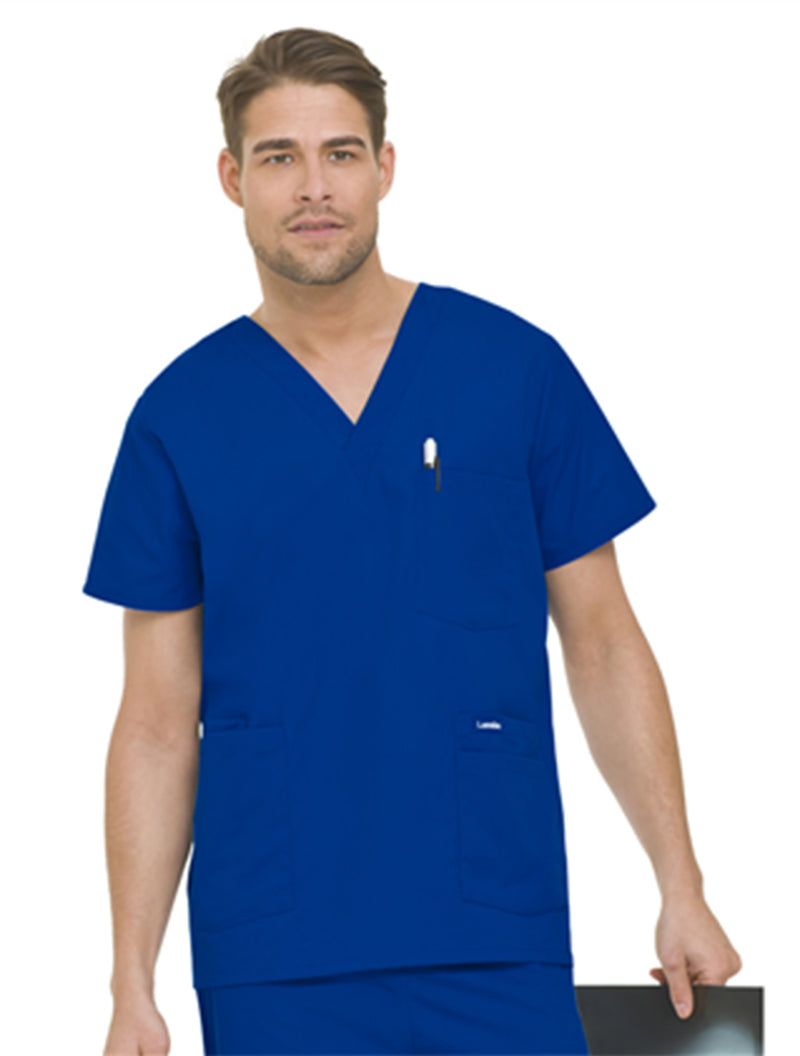 Landau Men's 5-Pocket Scrub Top Royal Blue