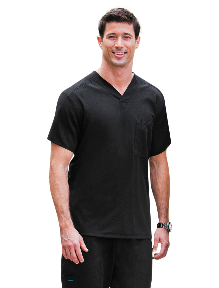 Jockey Unisex One-Pocket Scrub Top Black
