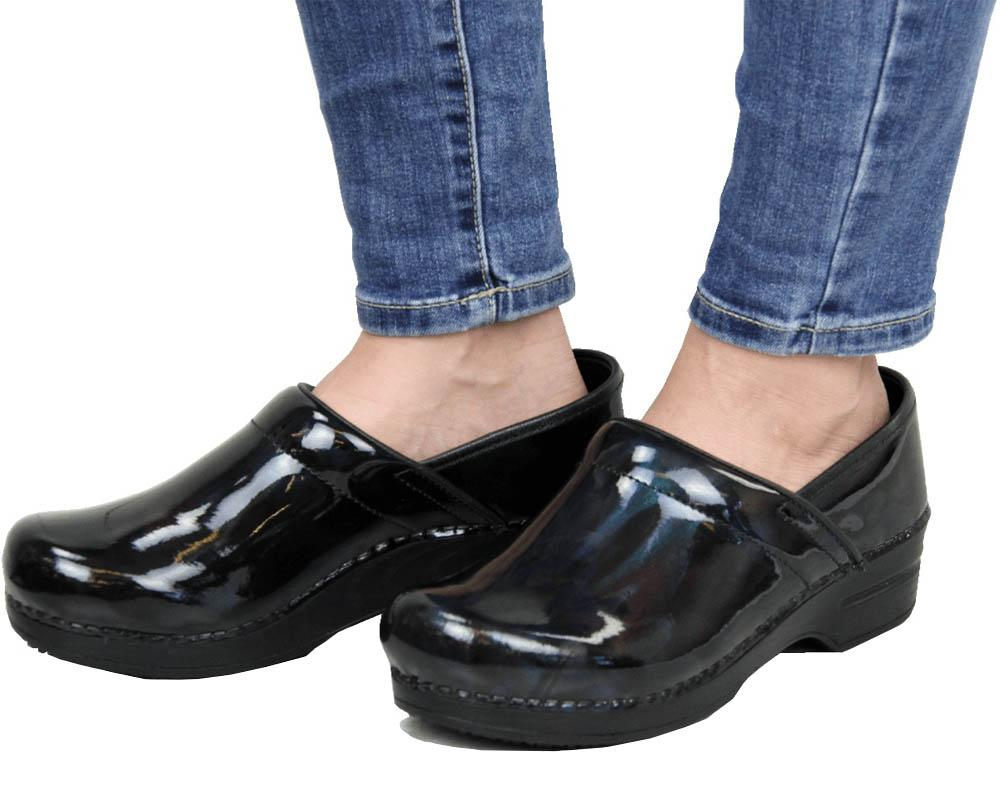 Sanita Acasia Women's Patent Leather Medical Clog