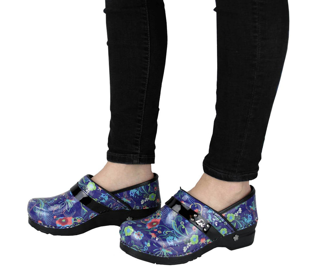 Sanita Secret Garden Women's Patent Leather Multi Medical Clog - life style