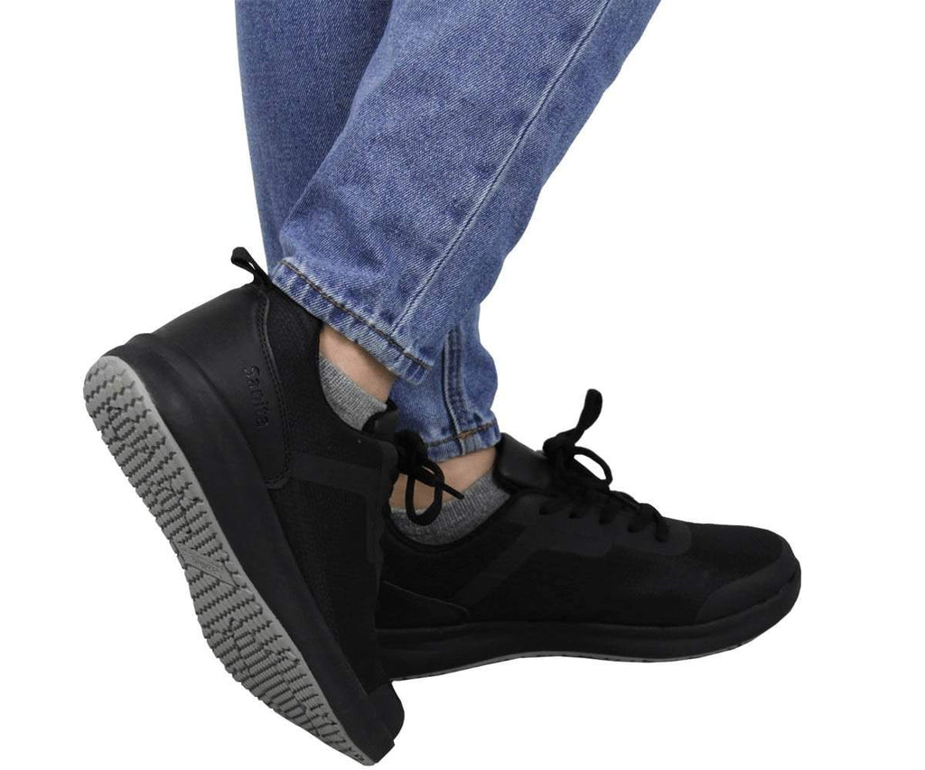 Sanita Concave Women's Men Black Medical Safety Sneaker - life style view
