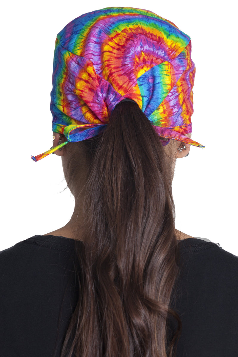 Fiumara Apparel Fitted Surgical Cap Tie Dye with Ties Back