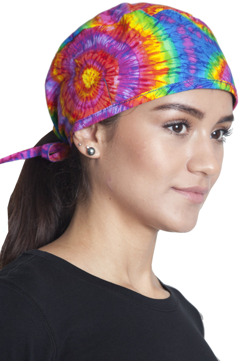 Fiumara Apparel Fitted Surgical Cap Tie Dye with Ties Main