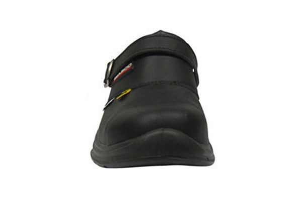 "Giasco ""Free"" Semi Open-Back Leather Medical Shoe Front"