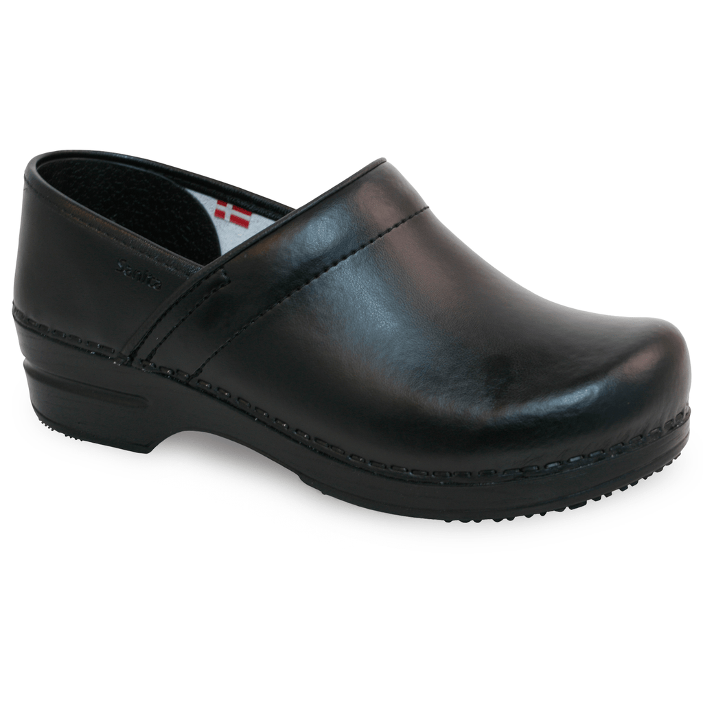 Sanita Aubrey Women's PU-coated Leather Medical Clog - side view