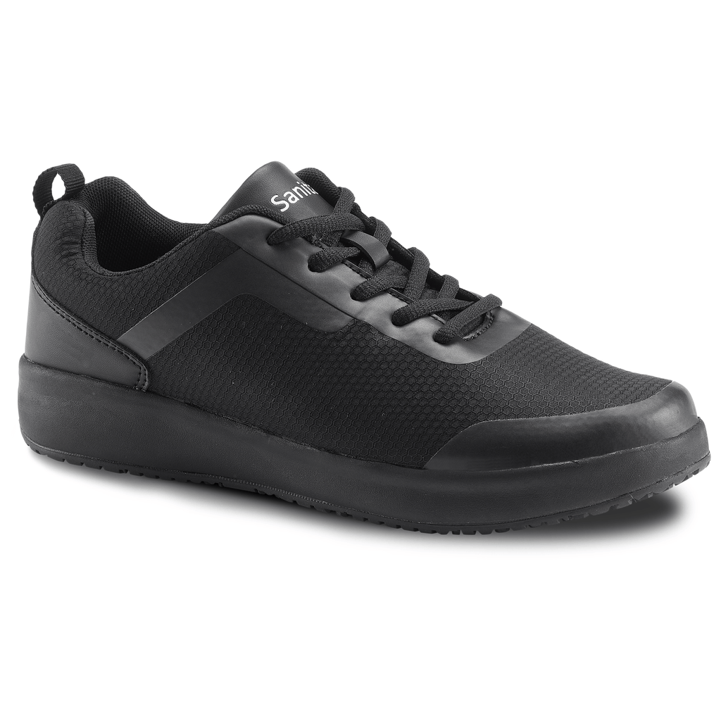 Sanita Concave Women's Men Black Medical Safety Sneaker - side view