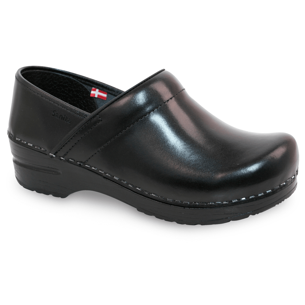 Sanita Pro. Cabrio Women's Black Clog -  side view