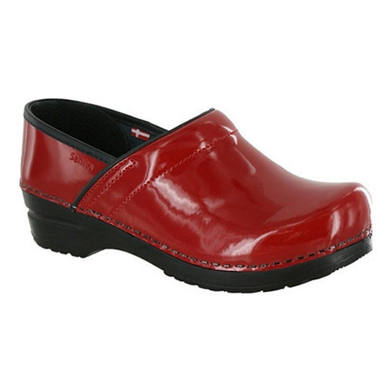 Sanita Women's Professional Patent Medical Clog Red